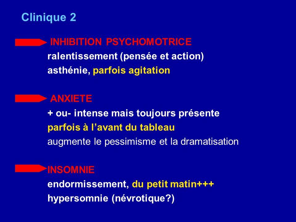 Clinique 2 INHIBITION PSYCHOMOTRICE ralentissement (pensée et action)