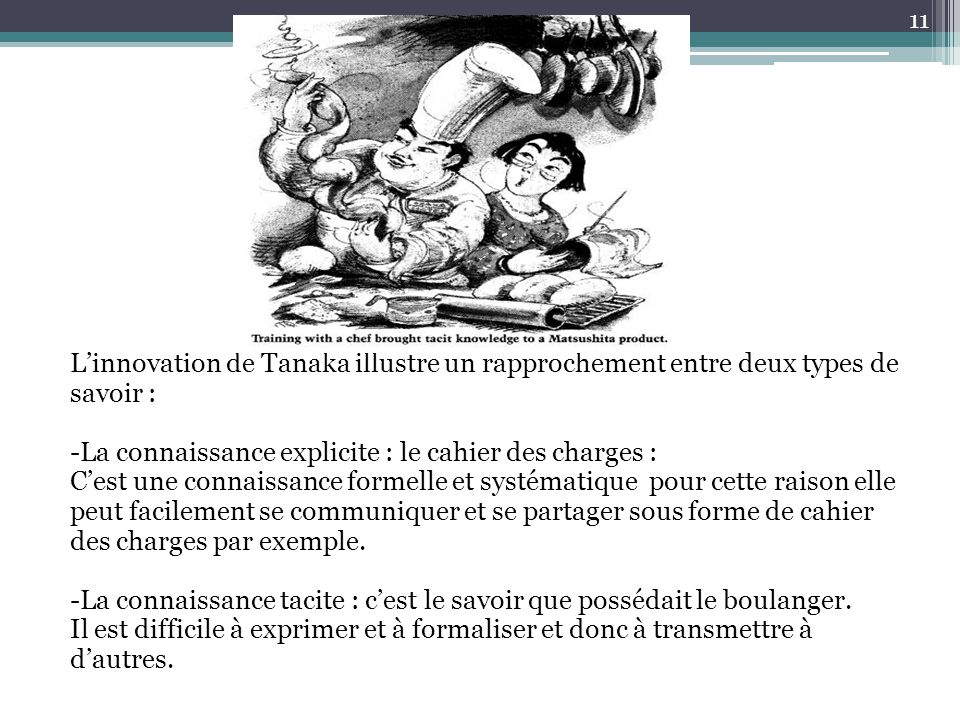 L'innovation de Tanaka illustre un rapprochement entre deux types de