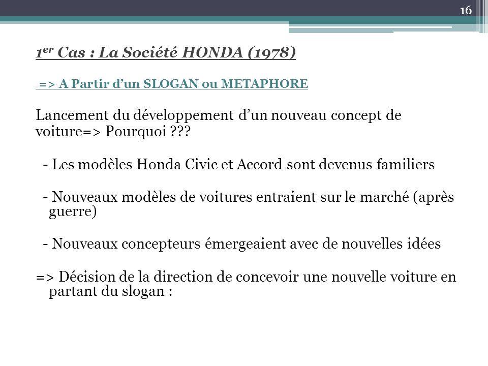 1er Cas : La Société HONDA (1978)