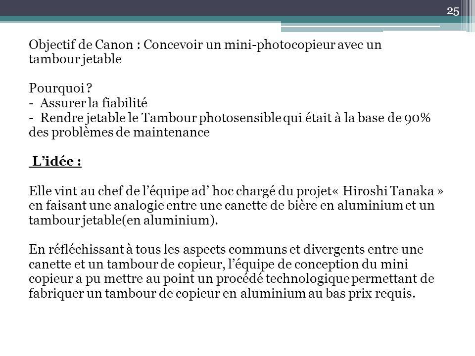 Objectif de Canon : Concevoir un mini-photocopieur avec un