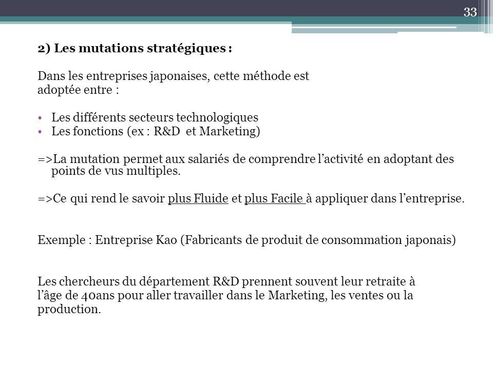 2) Les mutations stratégiques :
