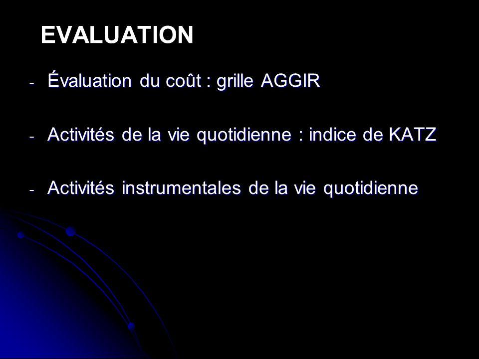 EVALUATION Évaluation du coût : grille AGGIR