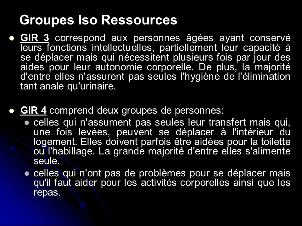 Groupes Iso Ressources