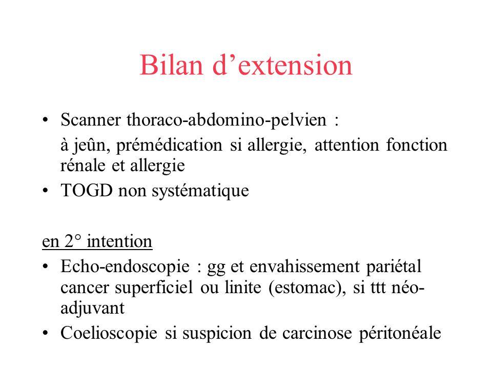 Bilan d'extension Scanner thoraco-abdomino-pelvien :