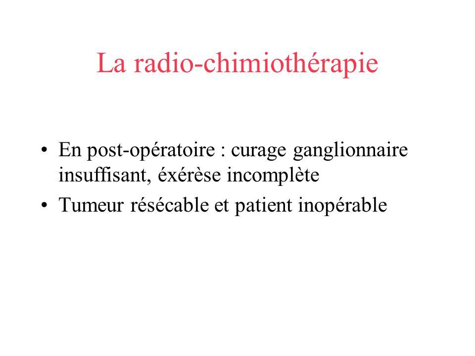 La radio-chimiothérapie