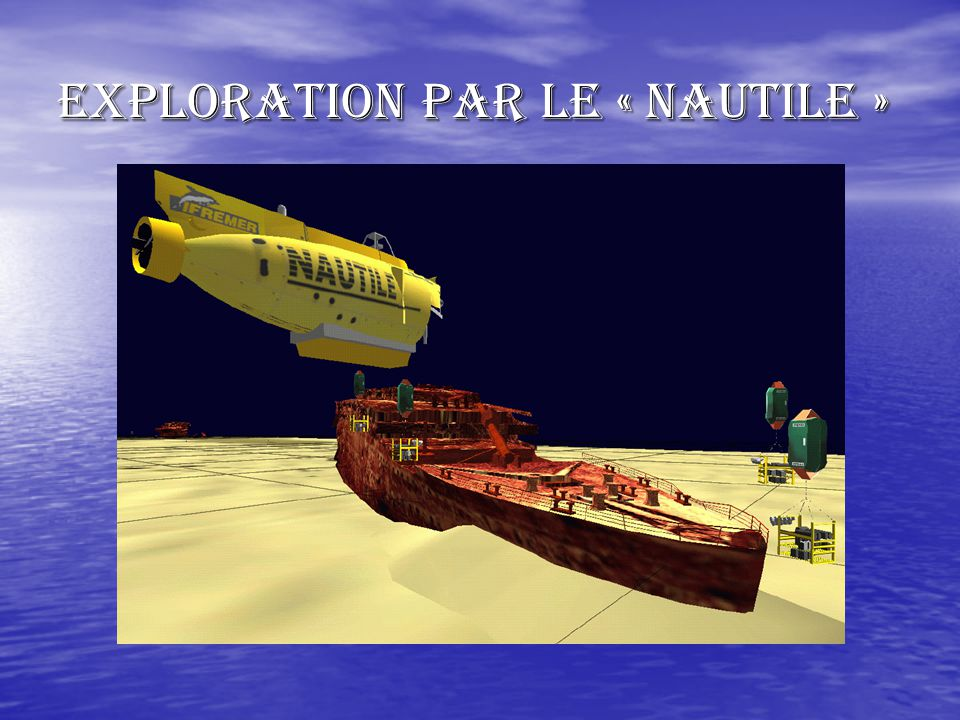 Exploration par le « NAUTILE »