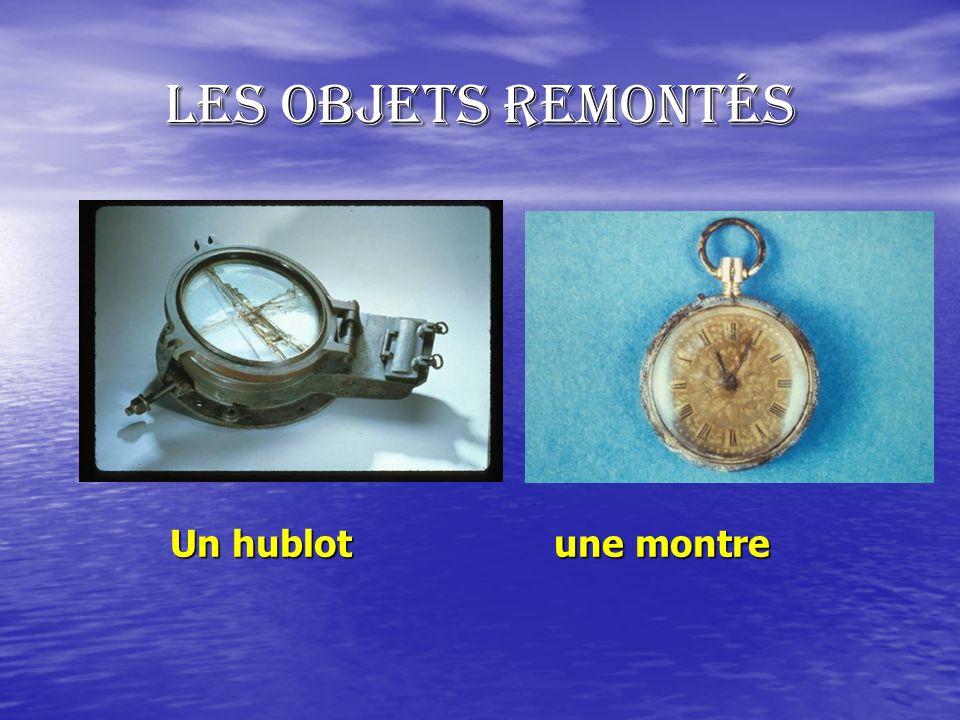 Les objets remontés Un hublot une montre
