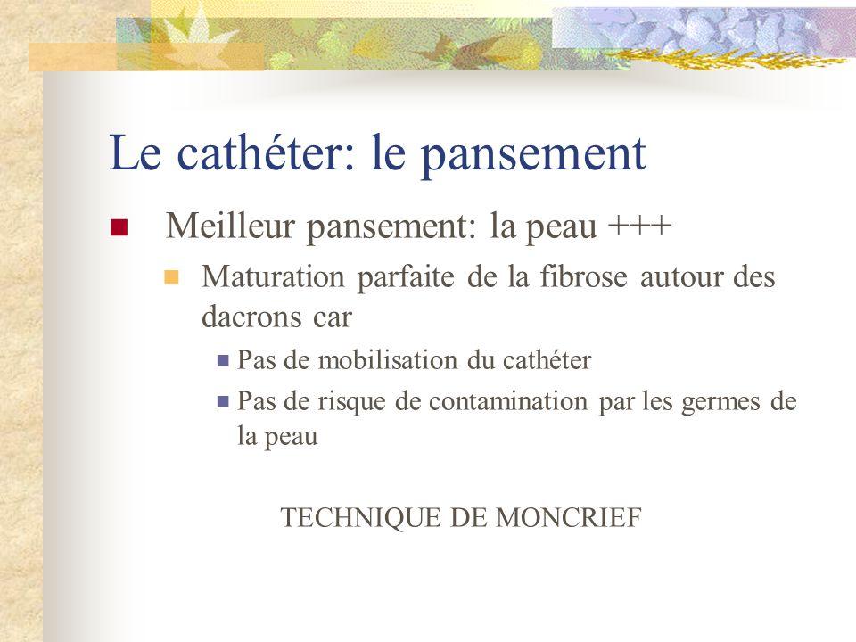 Le cathéter: le pansement
