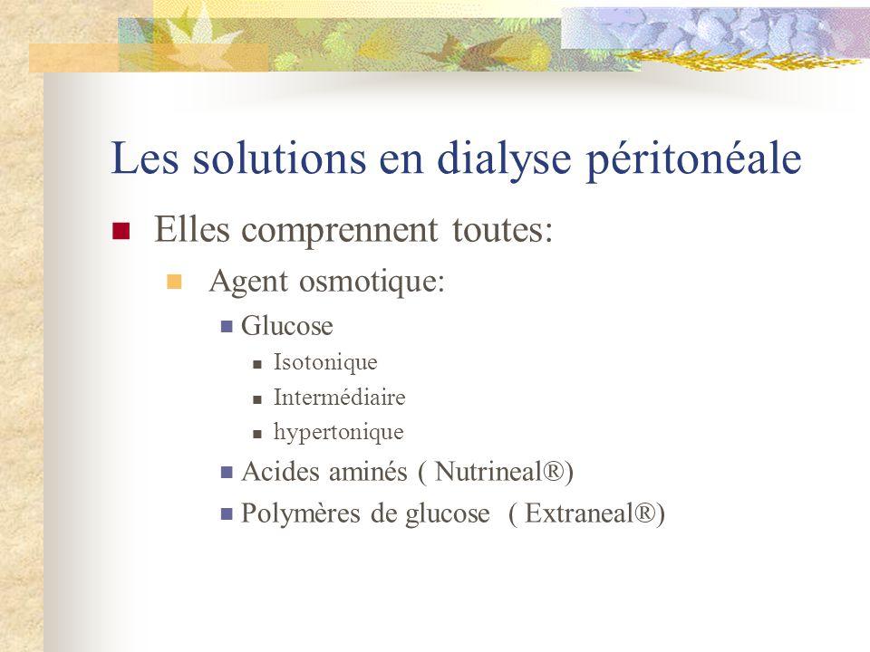 Les solutions en dialyse péritonéale