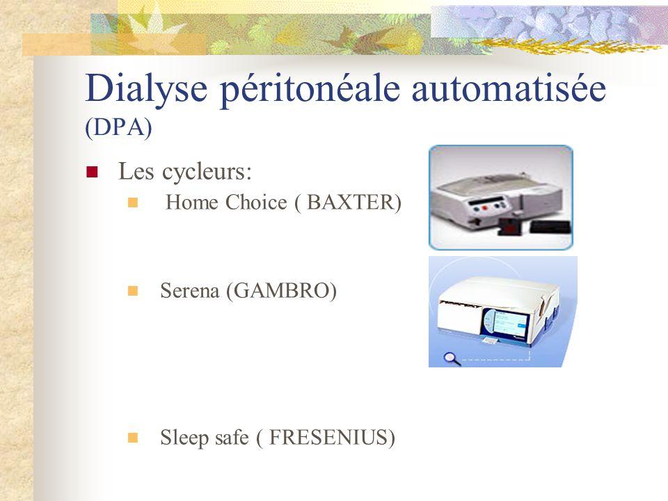 Dialyse péritonéale automatisée (DPA)