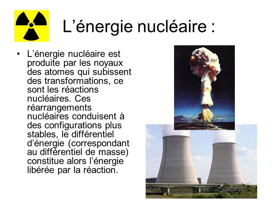 L'énergie nucléaire :