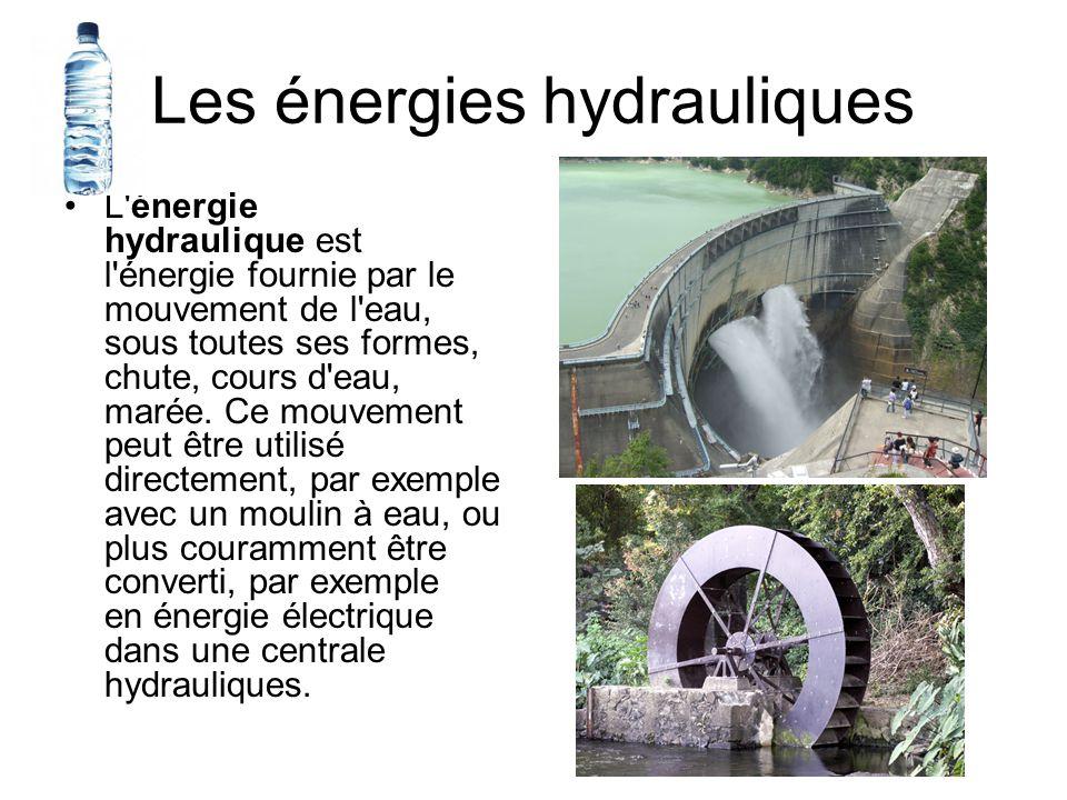 Les énergies hydrauliques