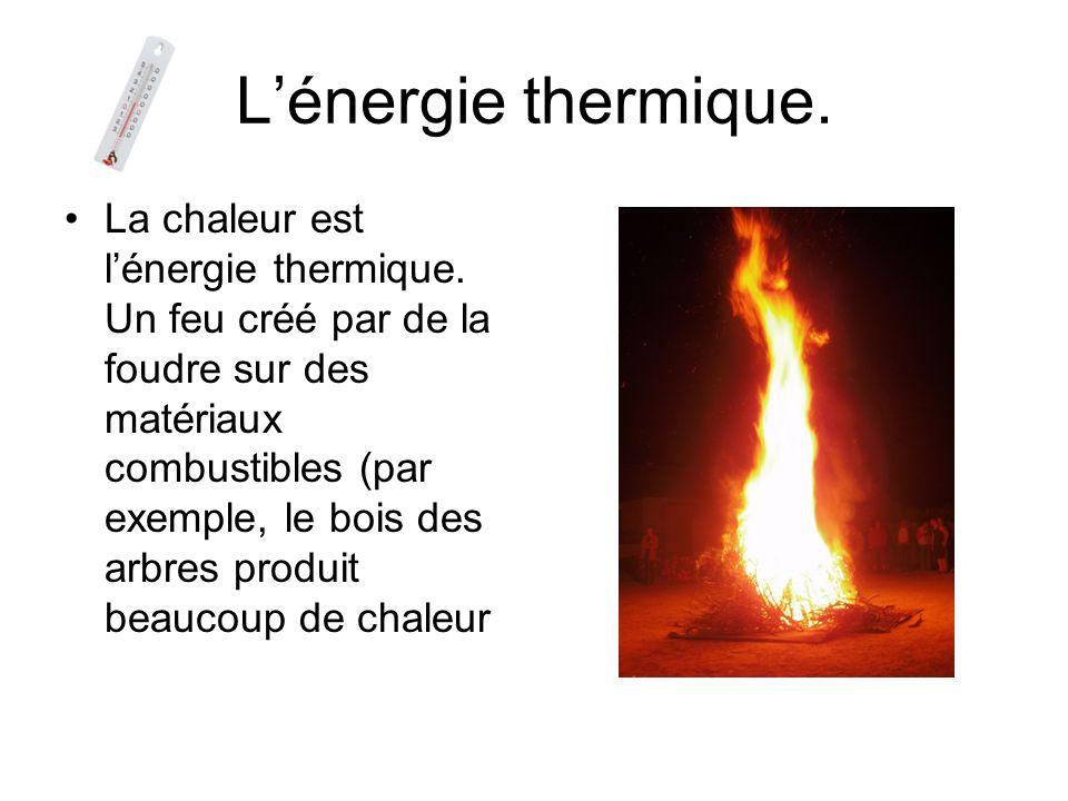 L'énergie thermique.