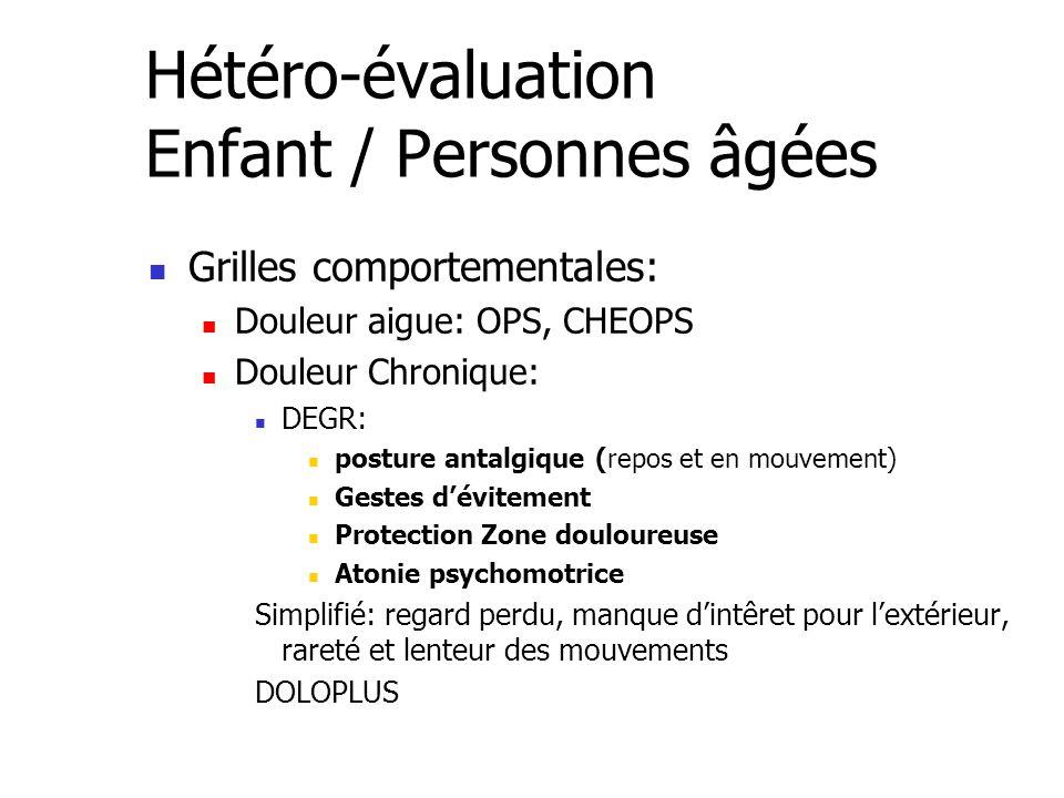 Hétéro-évaluation Enfant / Personnes âgées