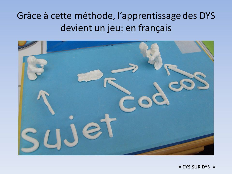 Grâce à cette méthode, l'apprentissage des DYS devient un jeu: en français