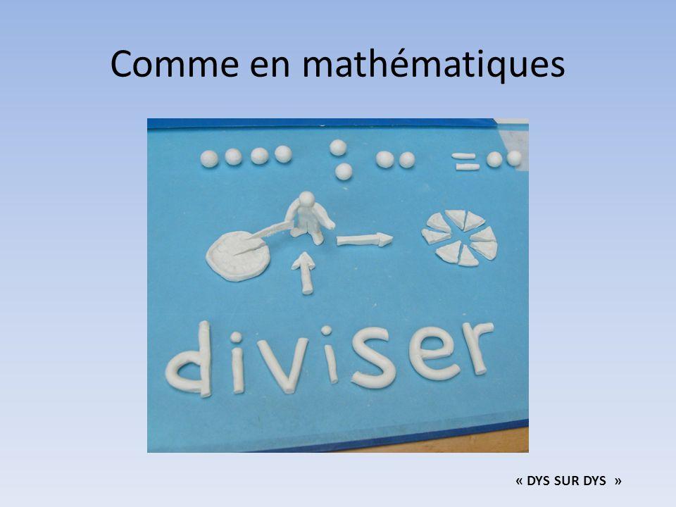 Comme en mathématiques