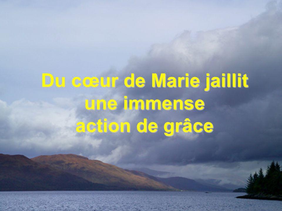 Du cœur de Marie jaillit une immense action de grâce