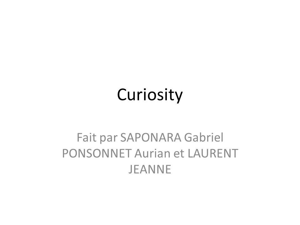Fait par SAPONARA Gabriel PONSONNET Aurian et LAURENT JEANNE