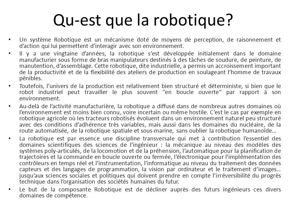 Qu-est que la robotique