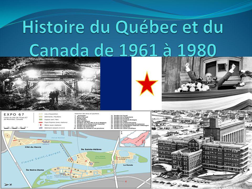 Histoire du Québec et du Canada de 1961 à 1980