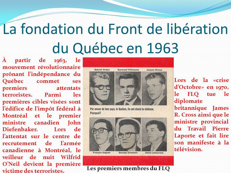 La fondation du Front de libération du Québec en 1963