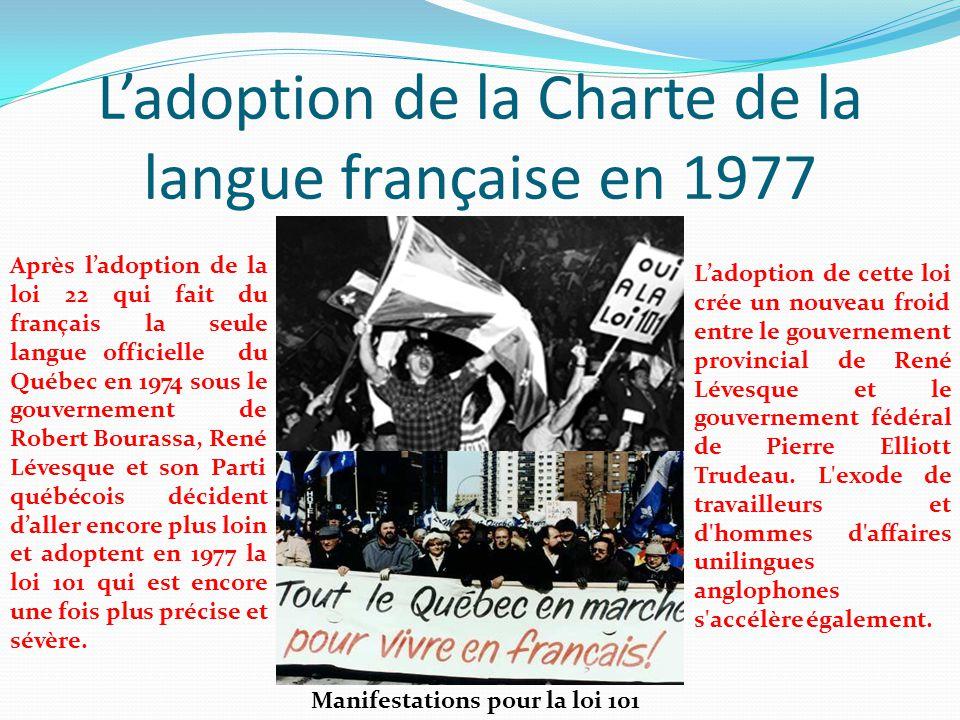 L'adoption de la Charte de la langue française en 1977