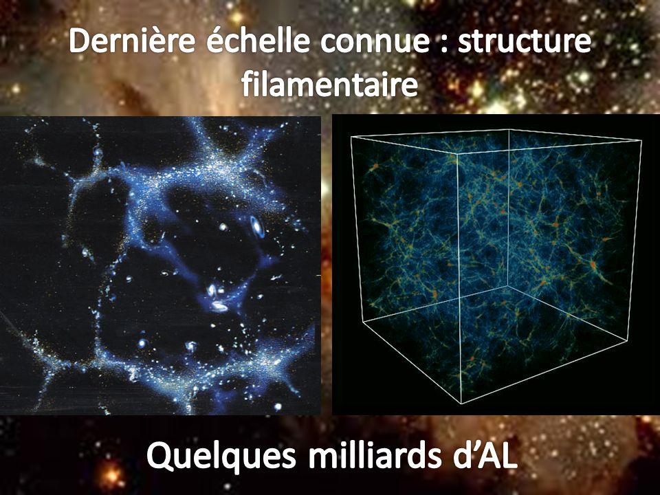 Dernière échelle connue : structure filamentaire