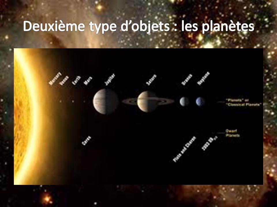 Deuxième type d'objets : les planètes