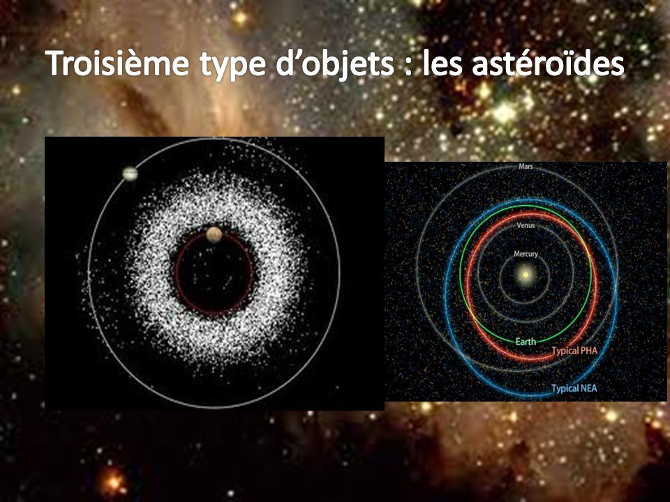 Troisième type d'objets : les astéroïdes