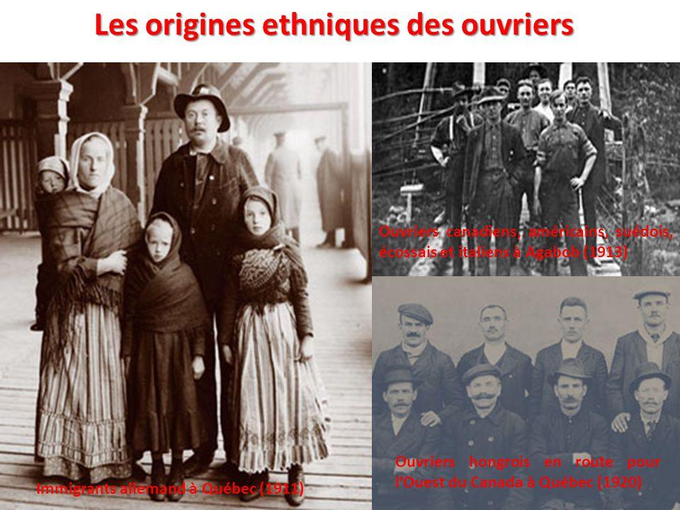 Les origines ethniques des ouvriers