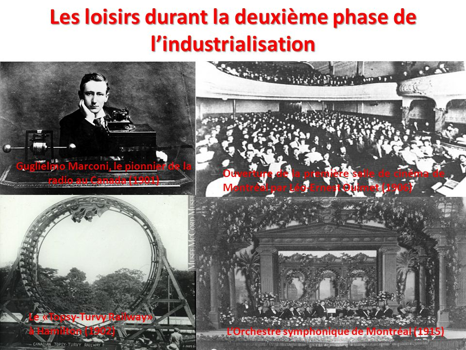 Les loisirs durant la deuxième phase de l'industrialisation