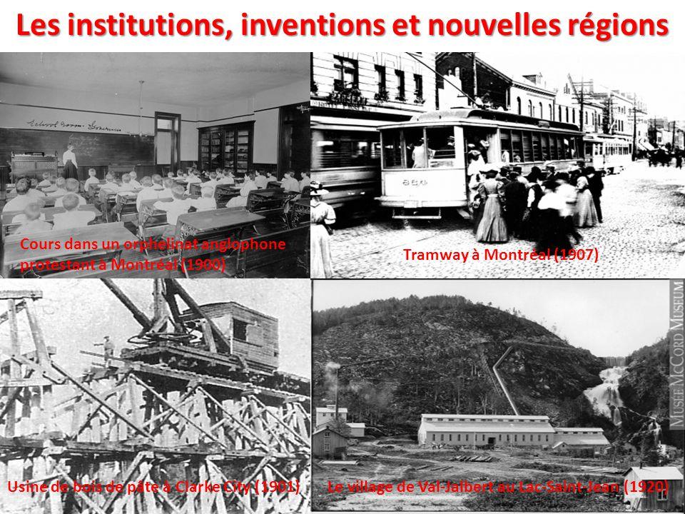 Les institutions, inventions et nouvelles régions