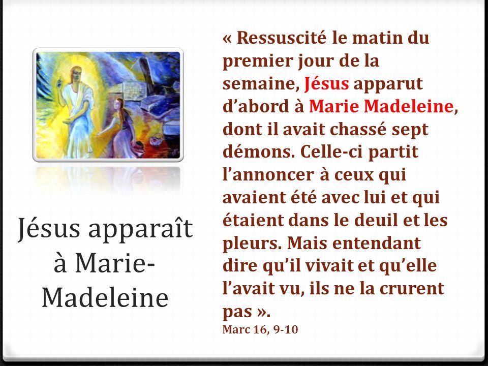 Jésus apparaît à Marie-Madeleine
