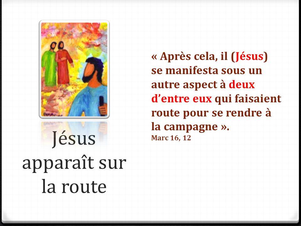 Jésus apparaît sur la route