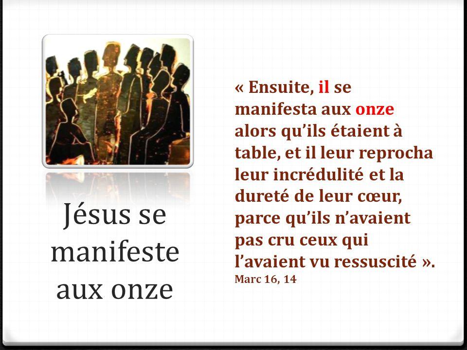 Jésus se manifeste aux onze