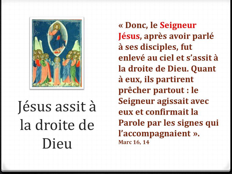 Jésus assit à la droite de Dieu
