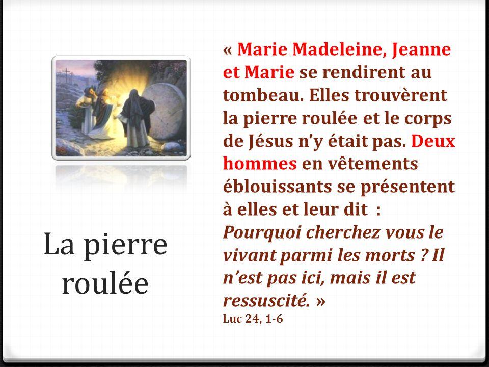 « Marie Madeleine, Jeanne et Marie se rendirent au tombeau