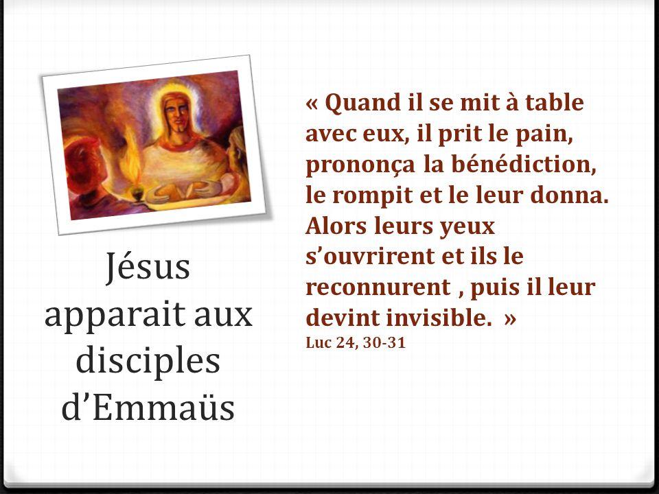 Jésus apparait aux disciples d'Emmaüs