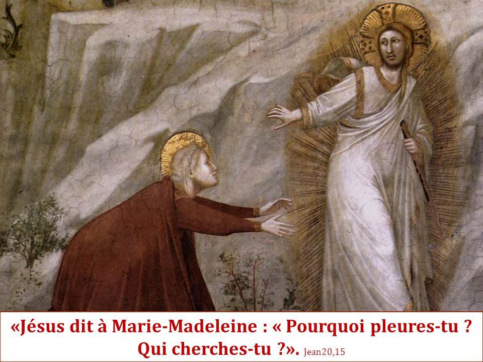 «Jésus dit à Marie-Madeleine : « Pourquoi pleures-tu. Qui cherches-tu