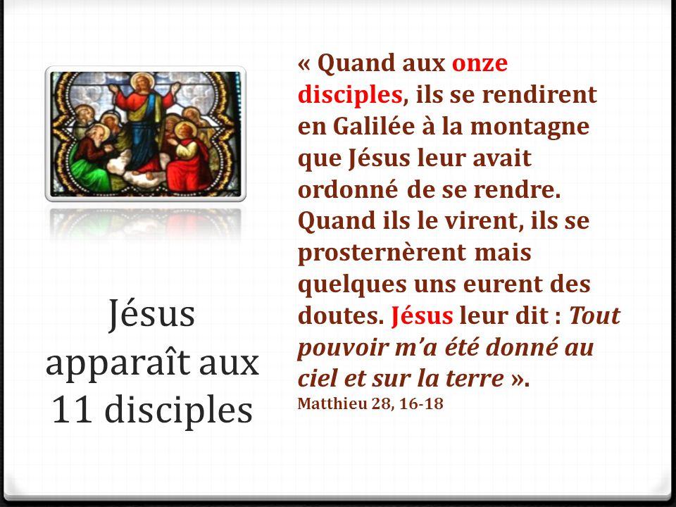 Jésus apparaît aux 11 disciples