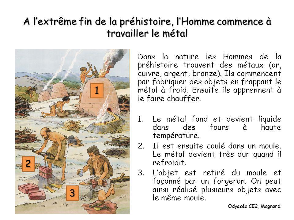A l'extrême fin de la préhistoire, l'Homme commence à travailler le métal