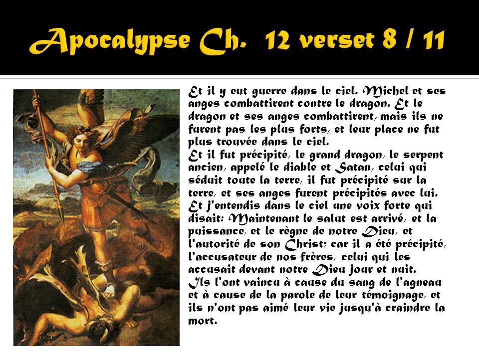Apocalypse Ch. 12 verset 8 / 11