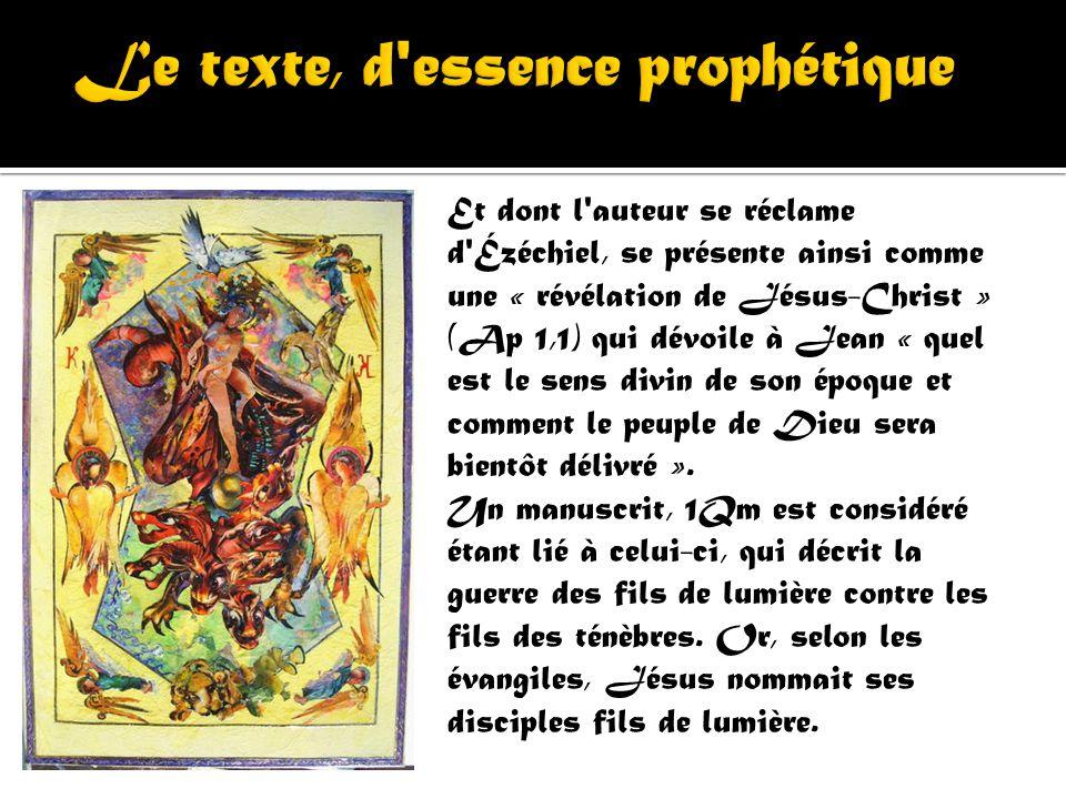 Le texte, d essence prophétique