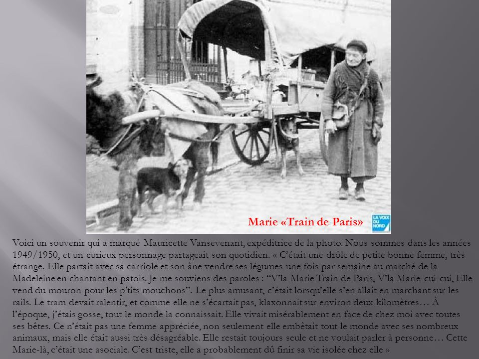 Marie «Train de Paris»