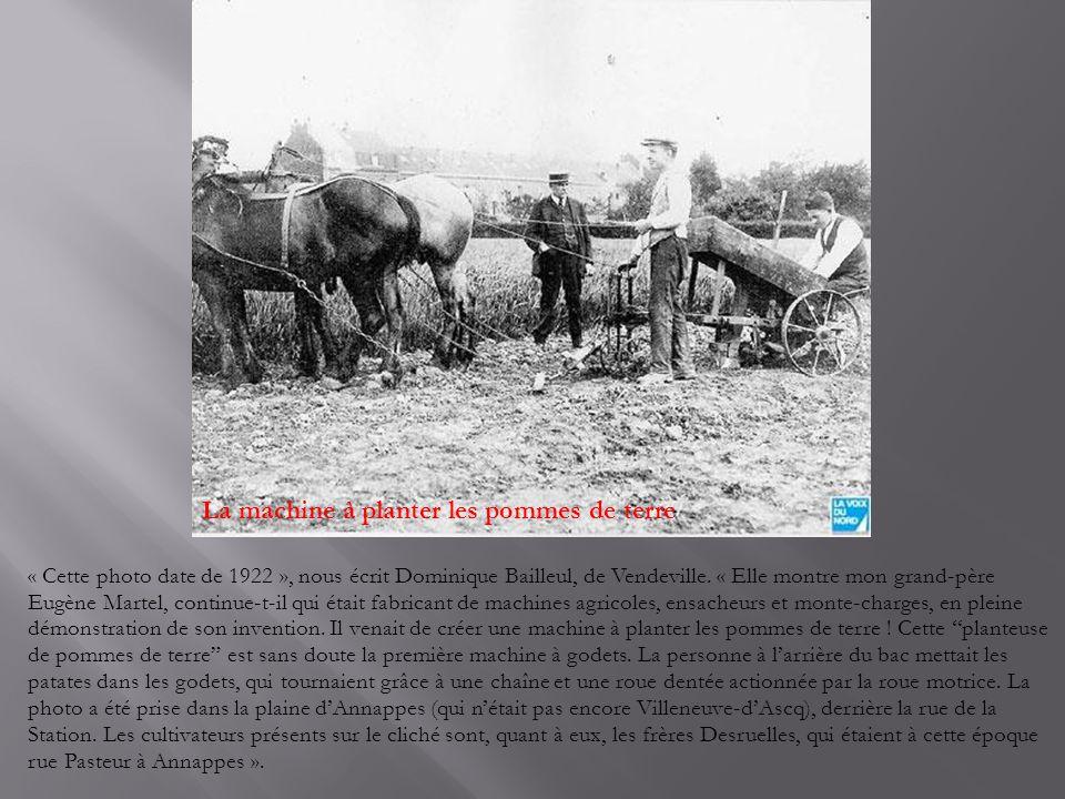 La machine à planter les pommes de terre