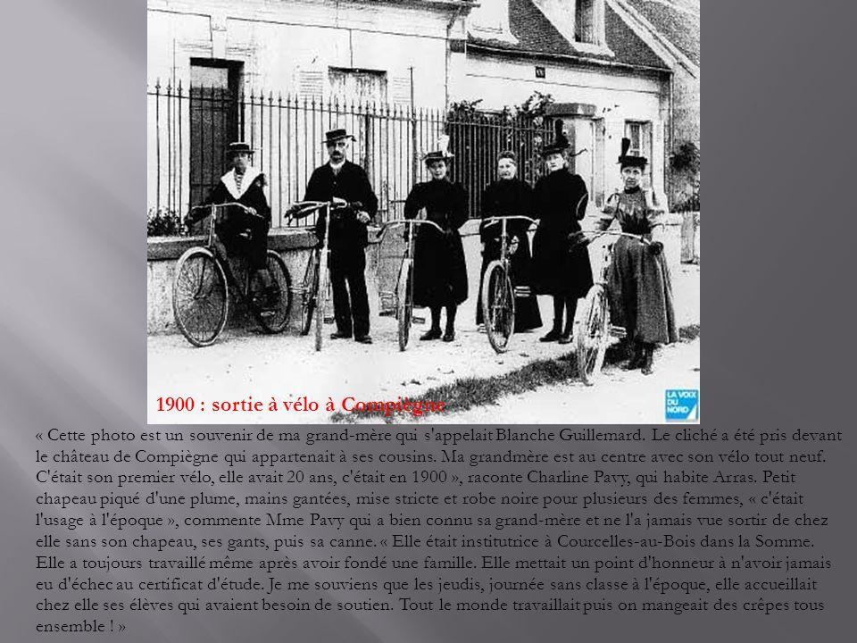 1900 : sortie à vélo à Compiègne