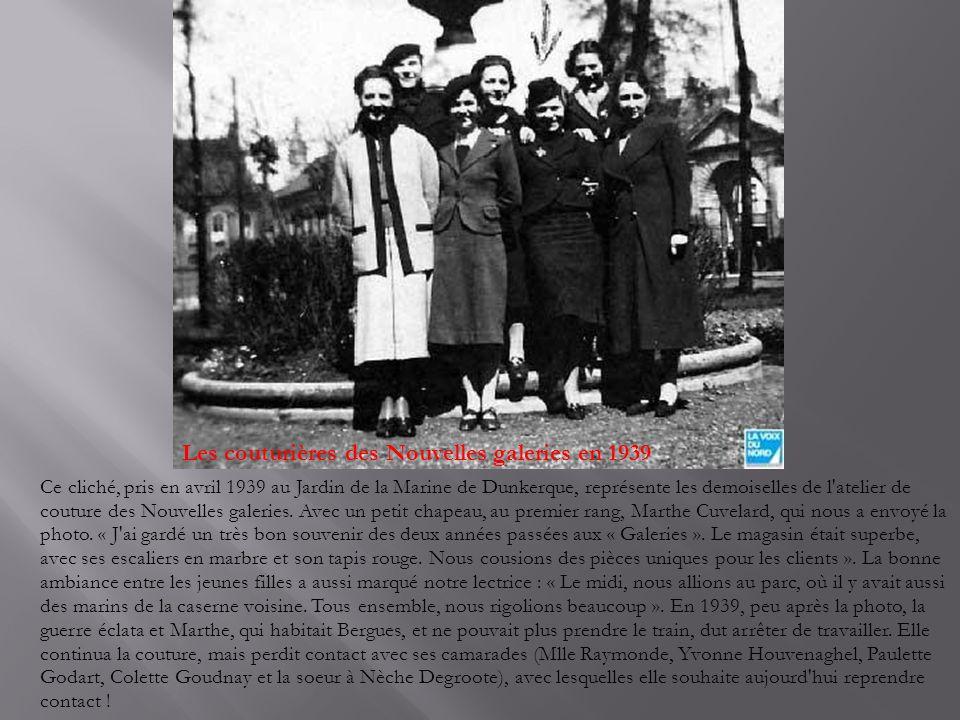 Les couturières des Nouvelles galeries en 1939