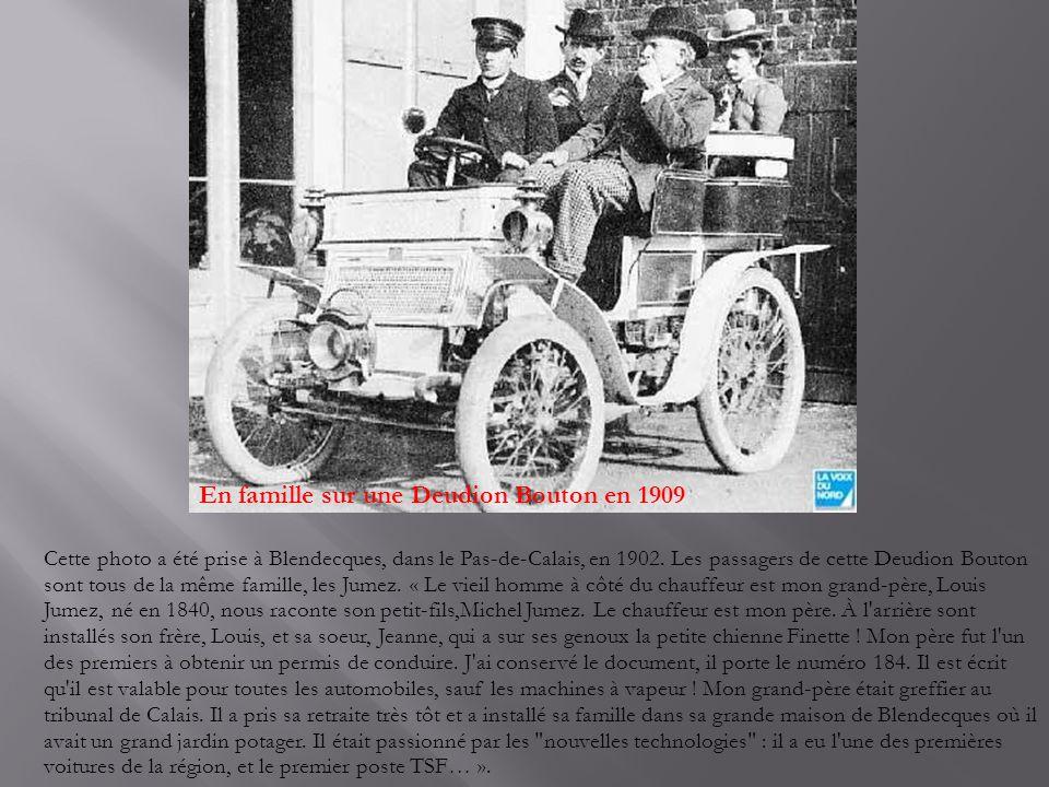 En famille sur une Deudion Bouton en 1909