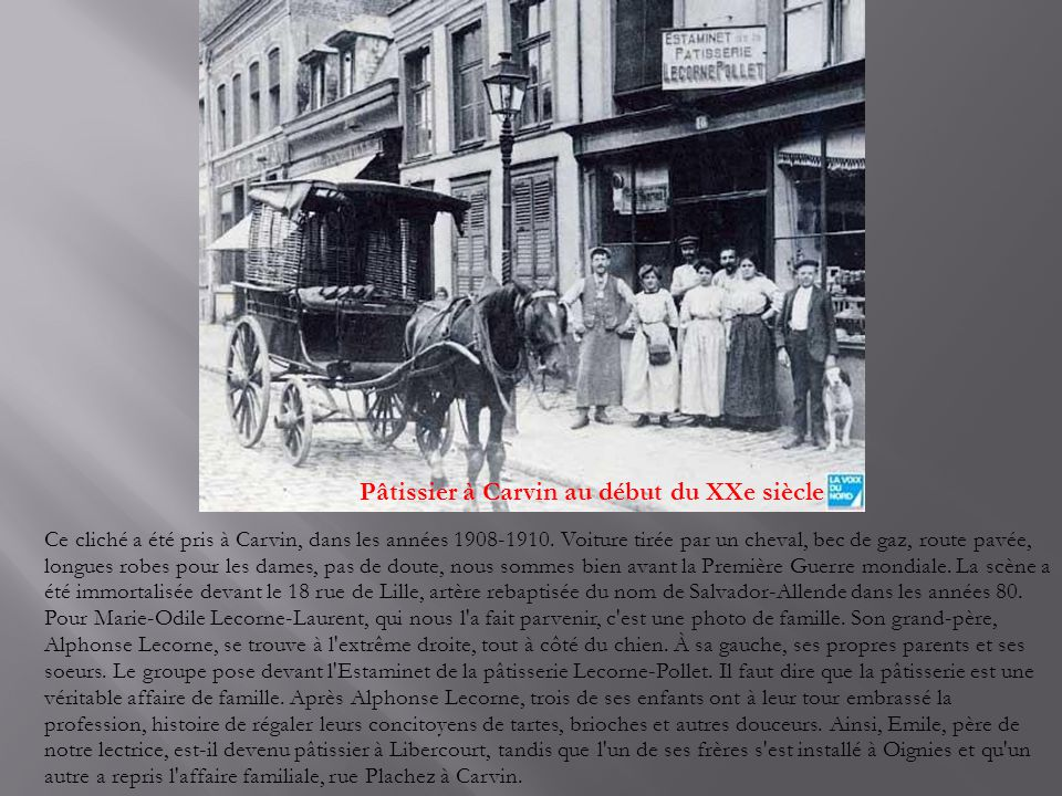 Pâtissier à Carvin au début du XXe siècle