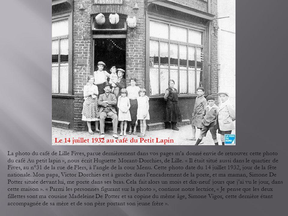 Le 14 juillet 1932 au café du Petit Lapin